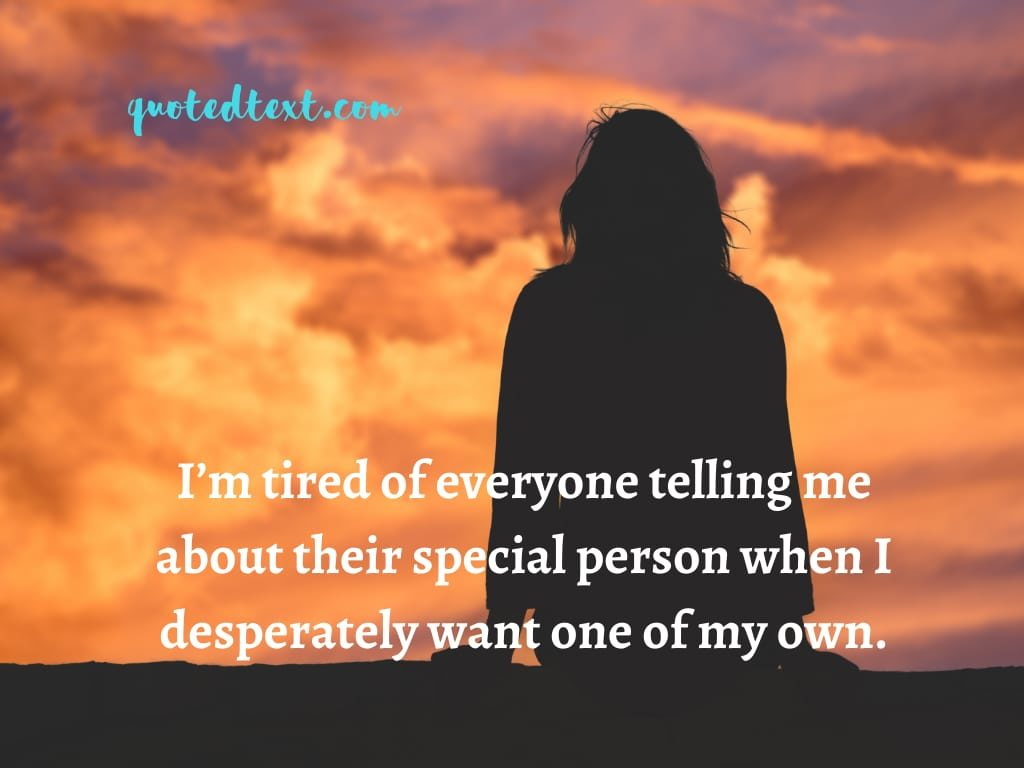alone status on feeling bad