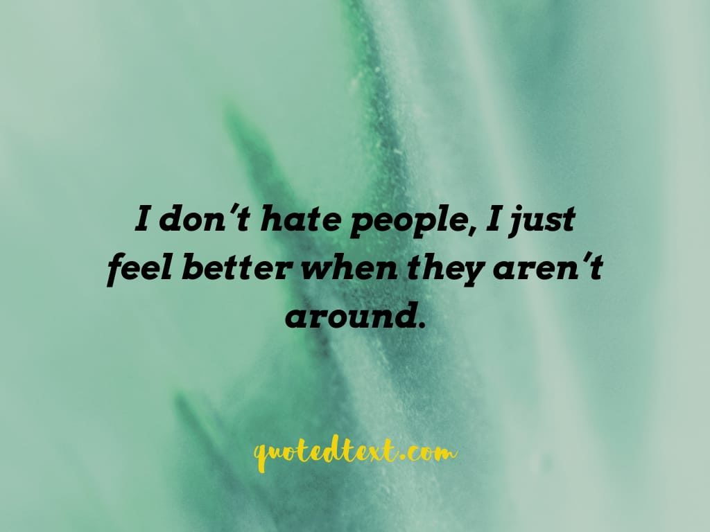 alone status on hate
