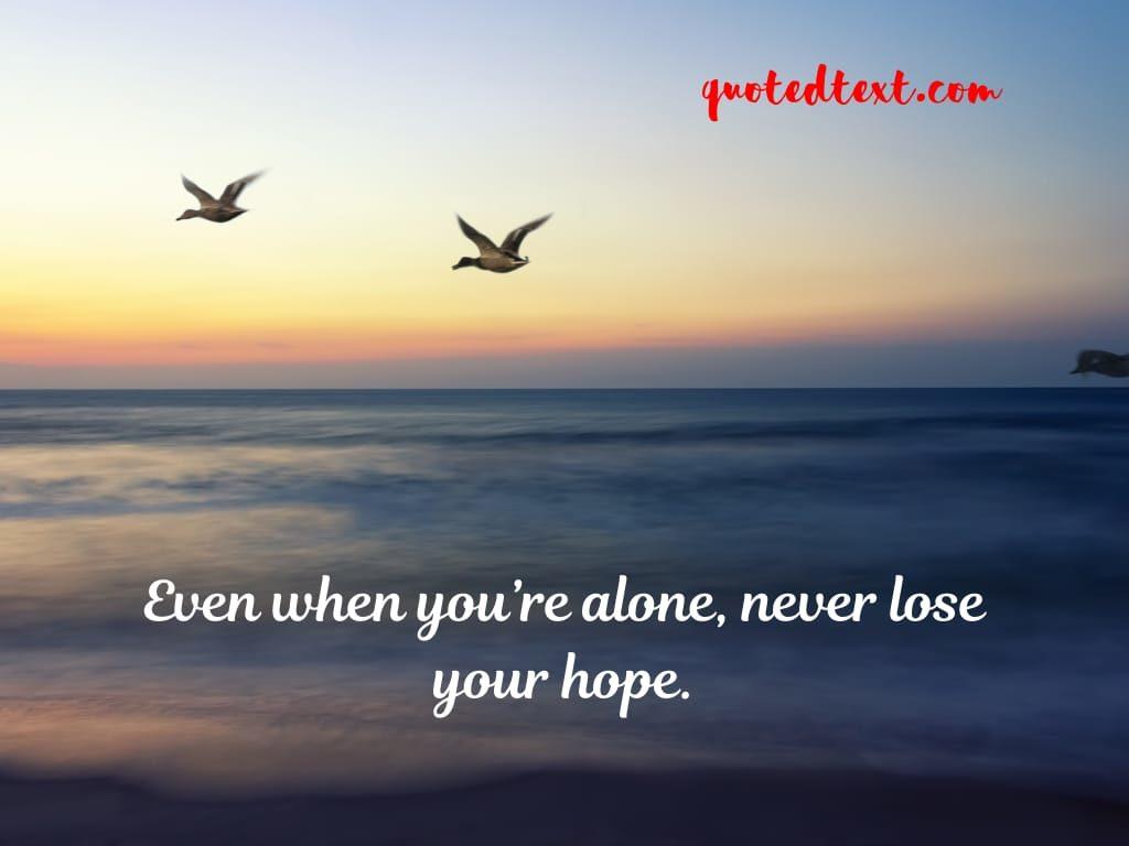 alone status on hope