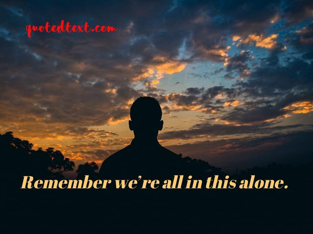 alone status on life