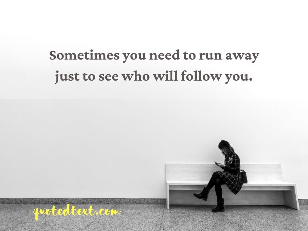 alone status to run alone