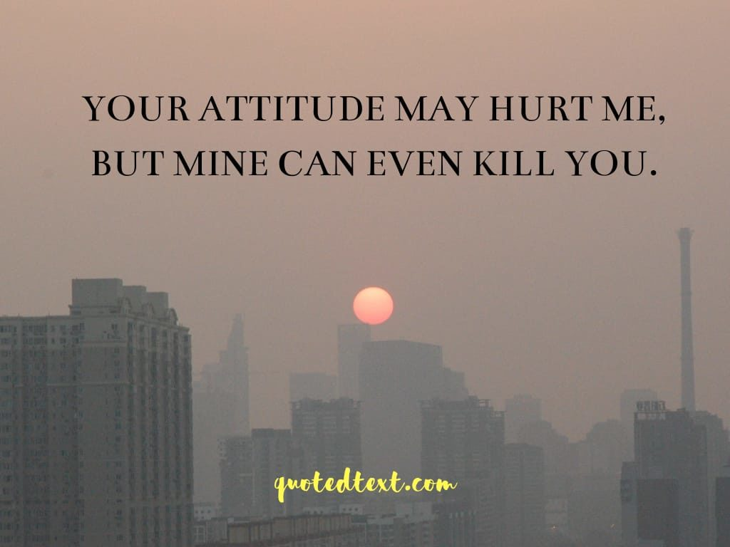 attitude status for you