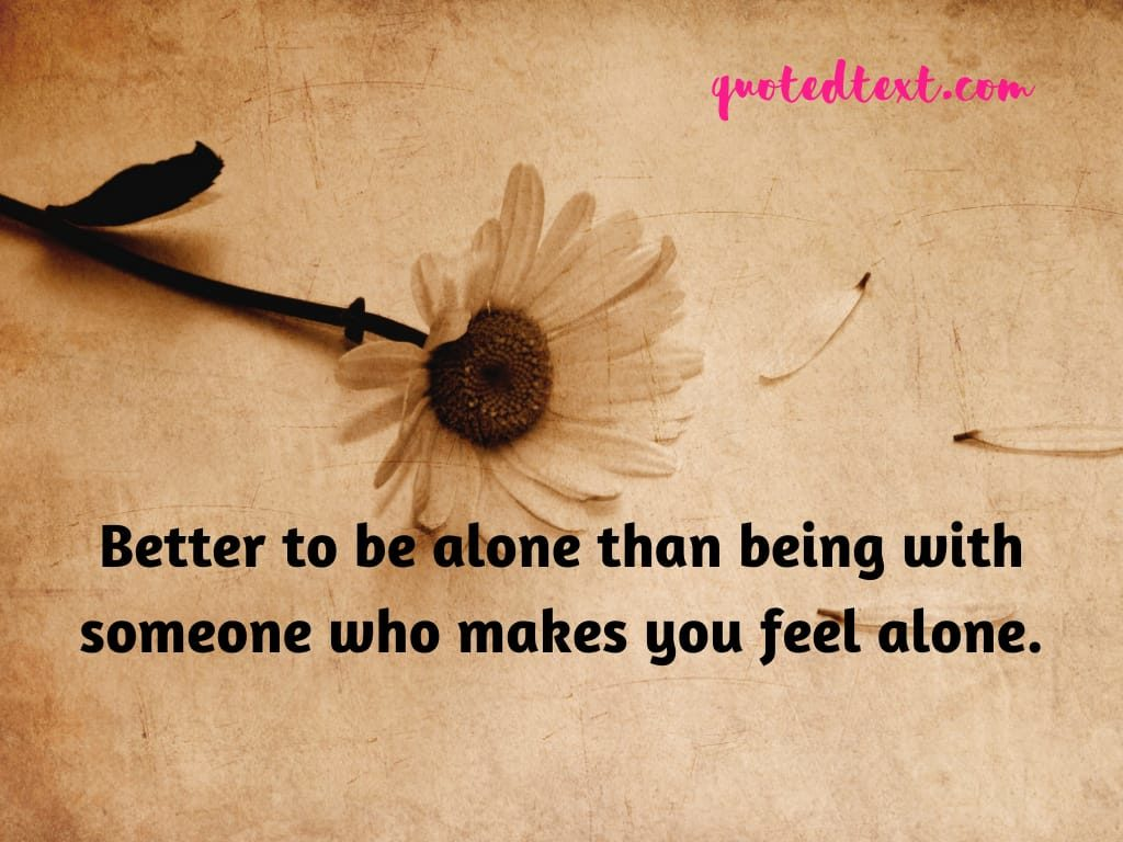 being alone status