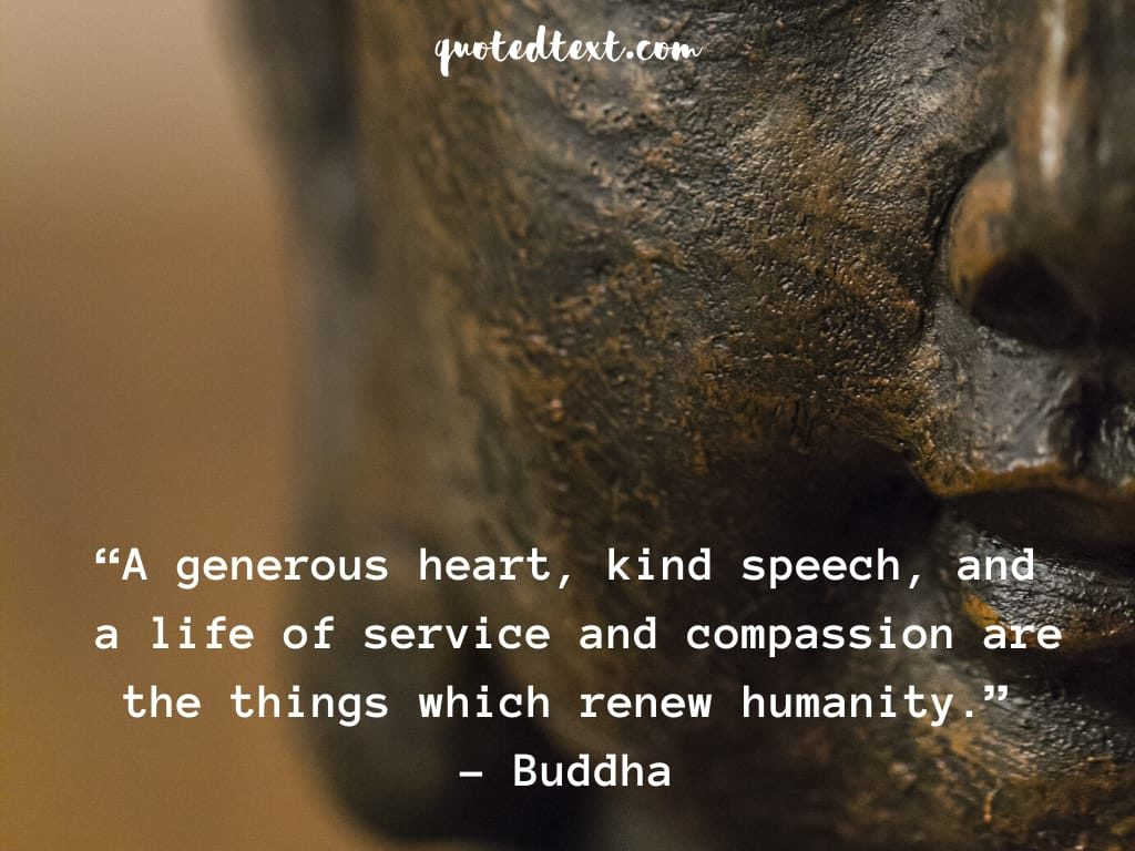 quotes on humanity by buddha