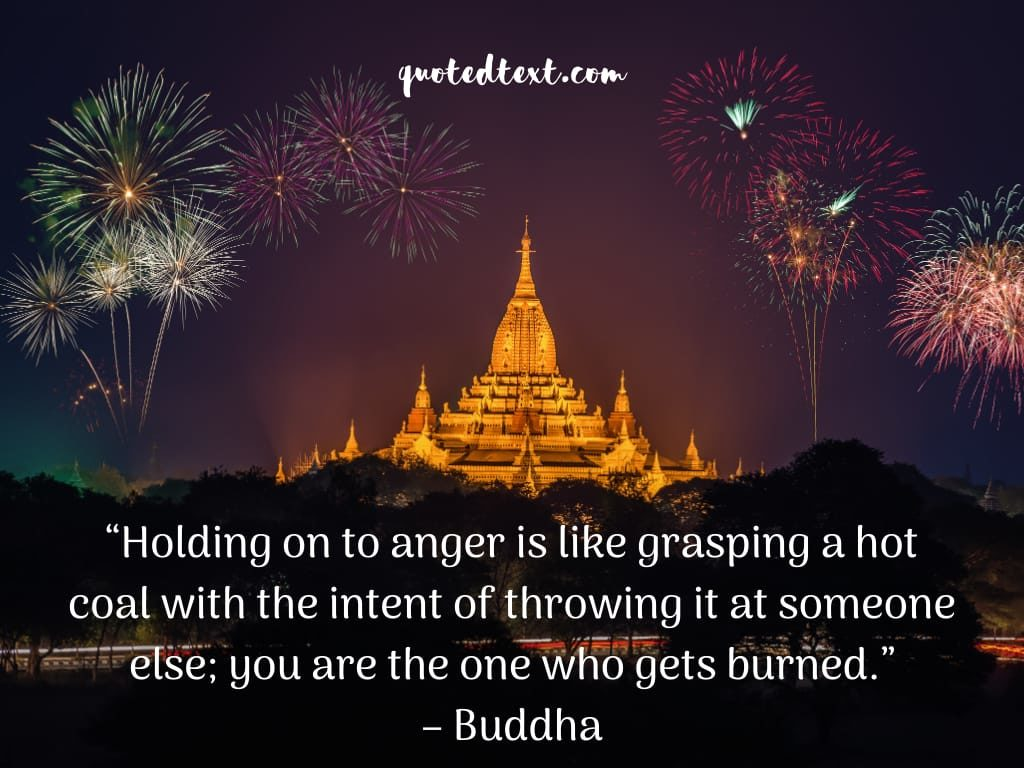 buddha quotes on holding anger