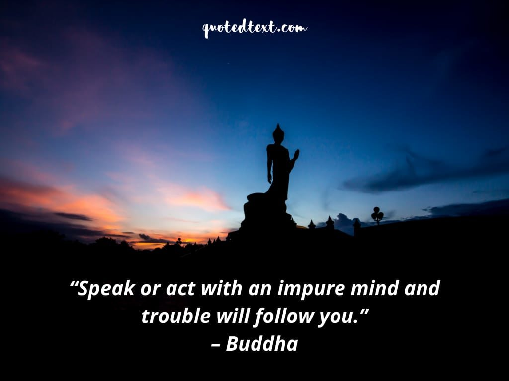 impure mind buddha quotes