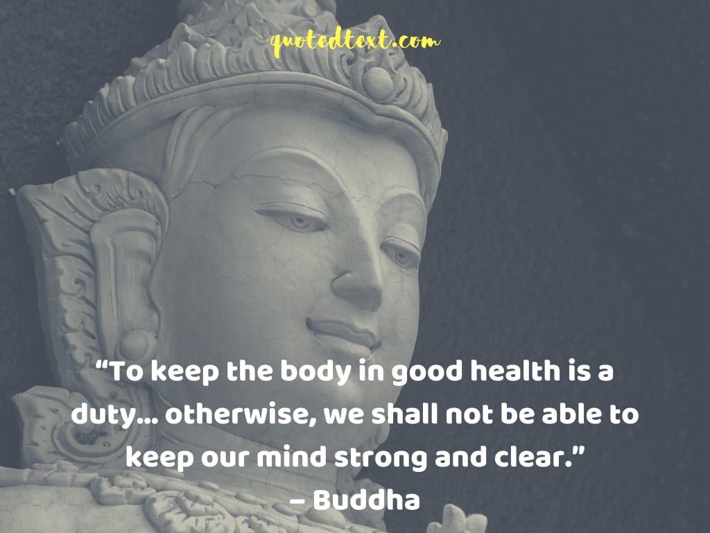 buddha quotes on good health