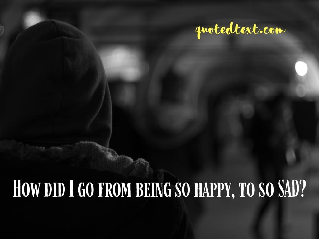 feeling sad alone status