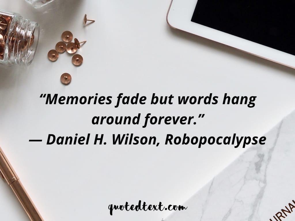 fade memories quotes