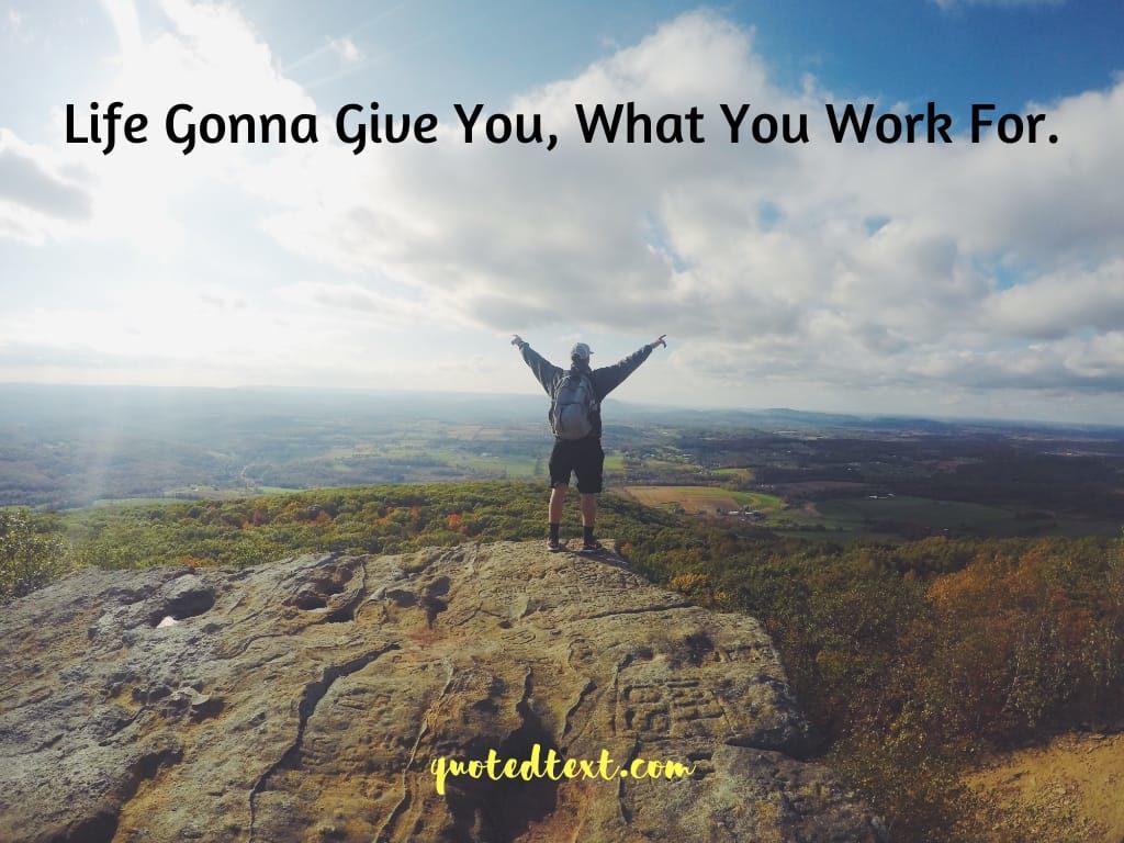 motvational status on doing hardwork