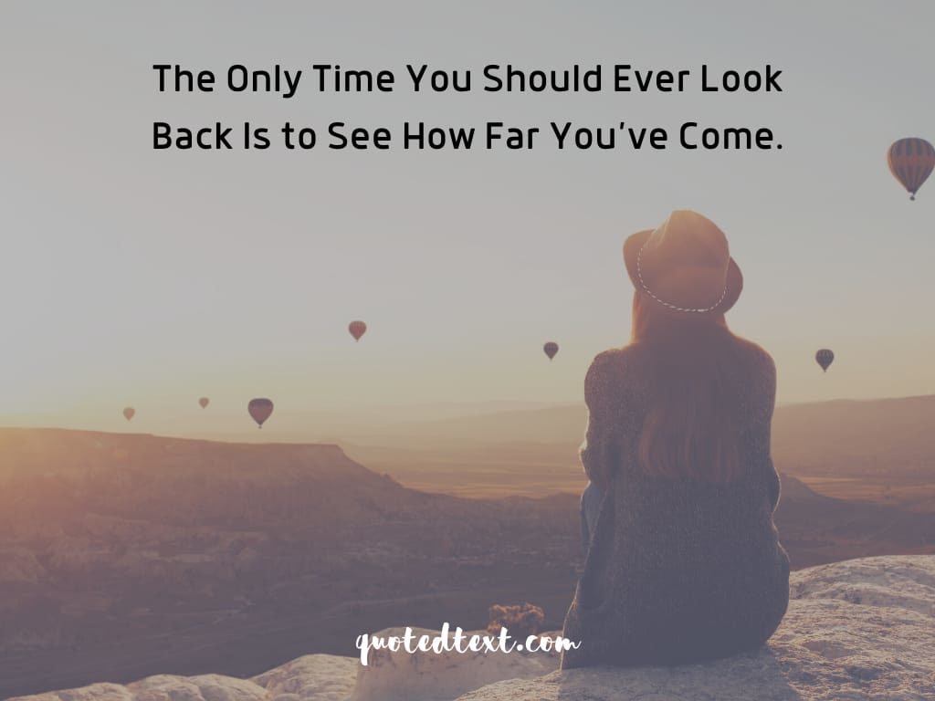 motivational status on never look back