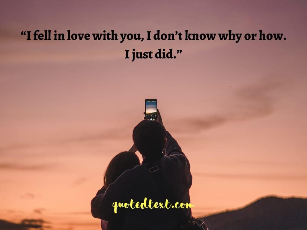 falling in love status