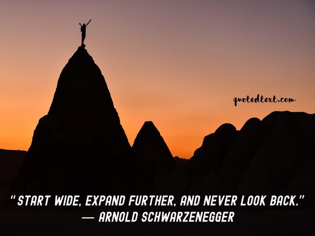 Arnold Schwarzenegger quotes on beginninng