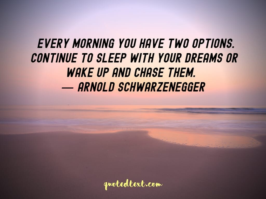 Arnold Schwarzenegger quotes on dreams