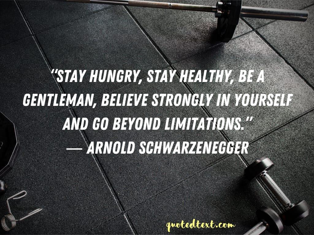 Arnold Schwarzenegger quotes on limitations