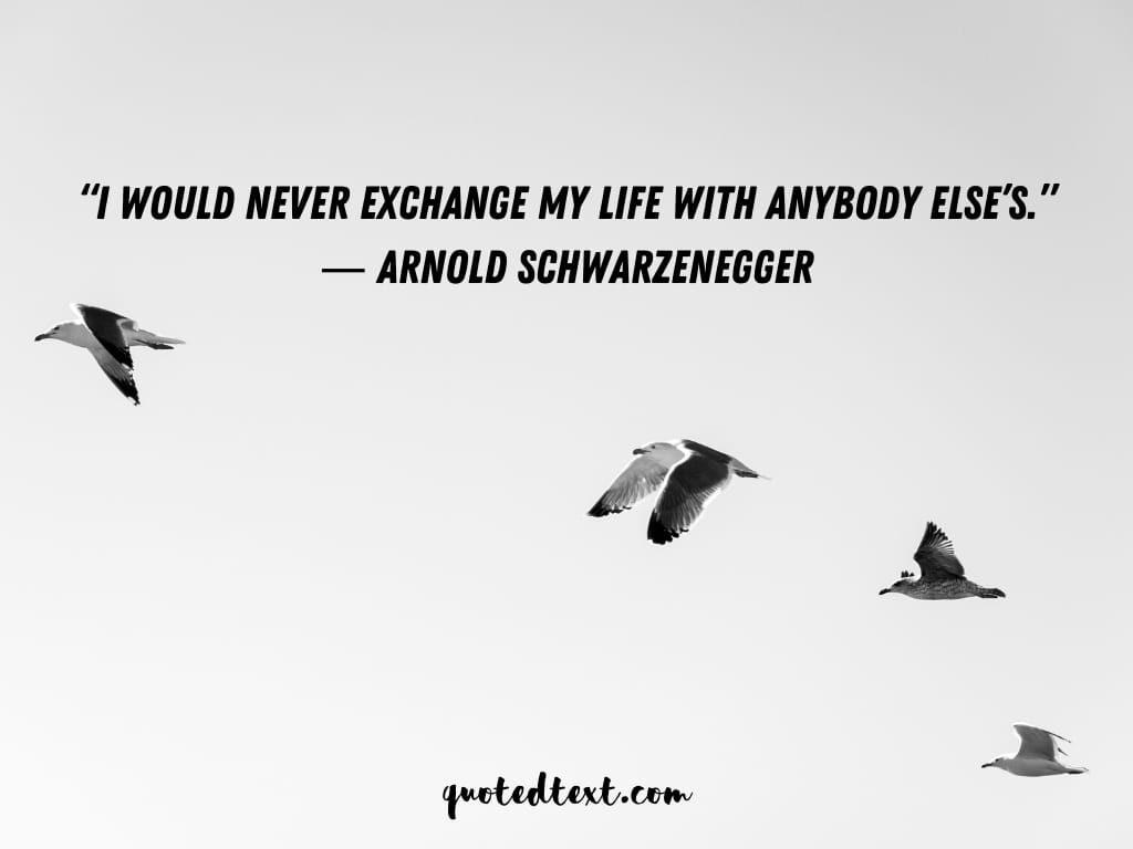 Arnold Schwarzenegger quotes on expectation