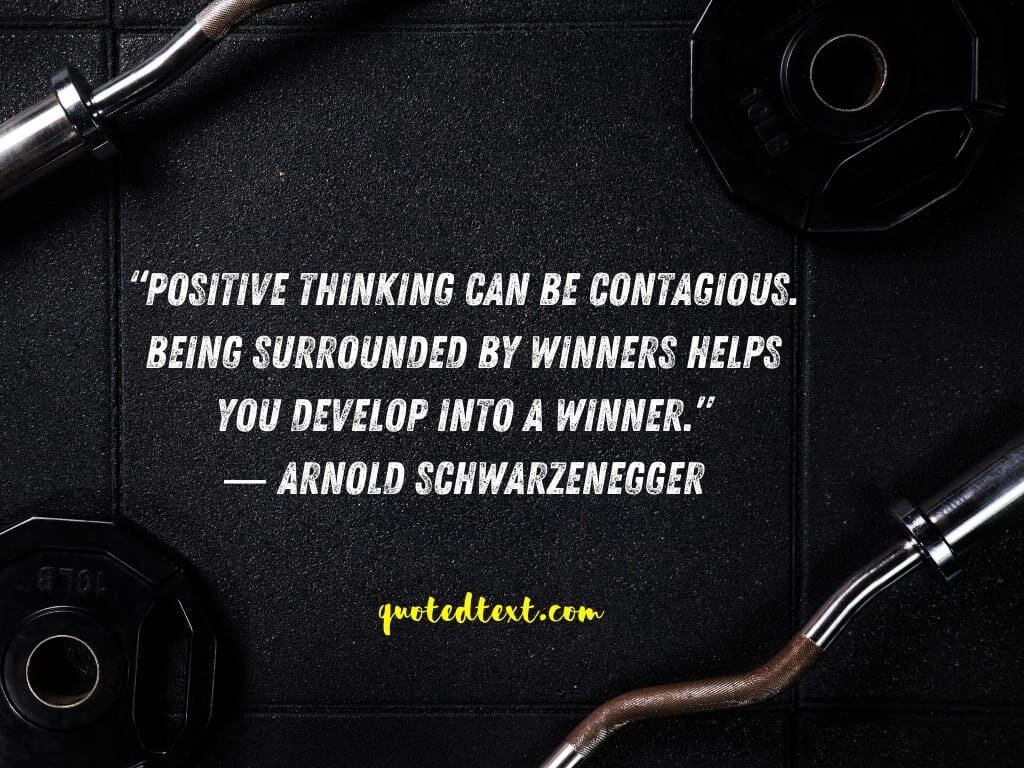 Arnold Schwarzenegger quotes on winning