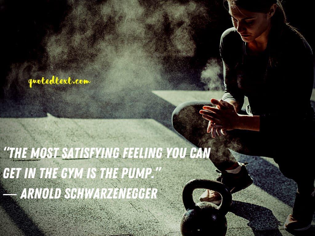 Arnold Schwarzenegger quotes on satisfaction