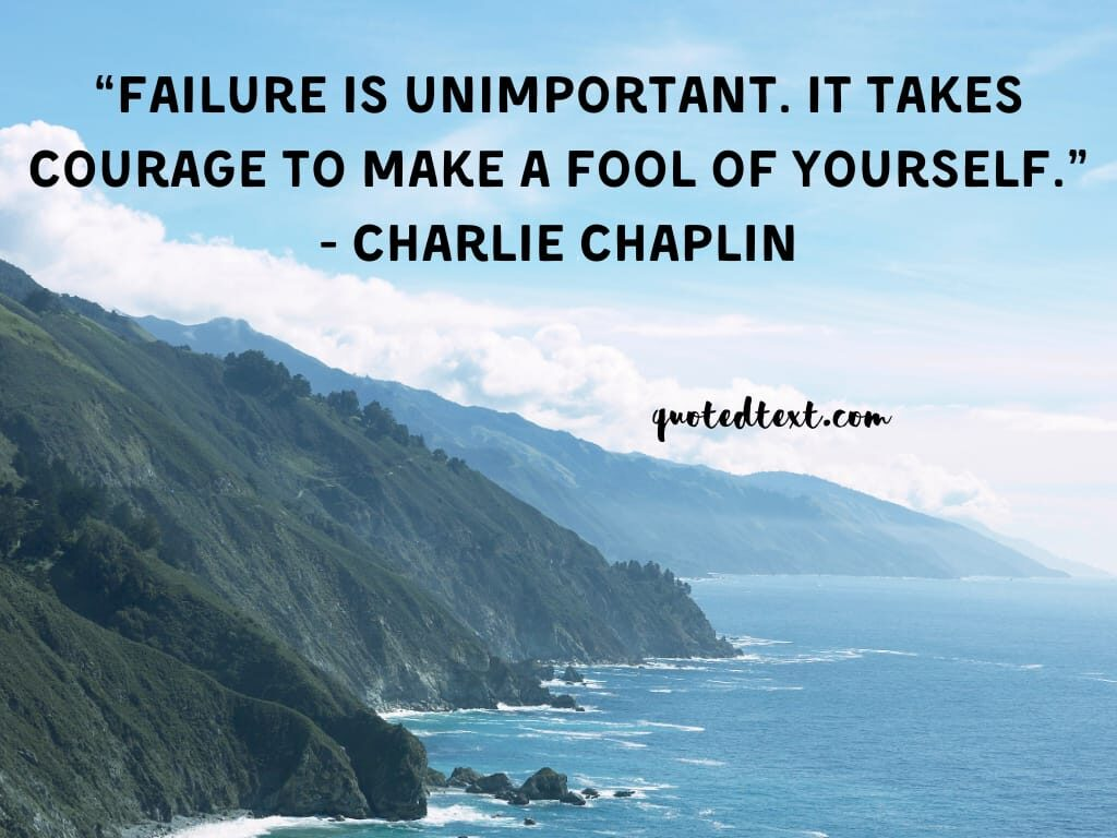 charlie chaplin quotes on failure