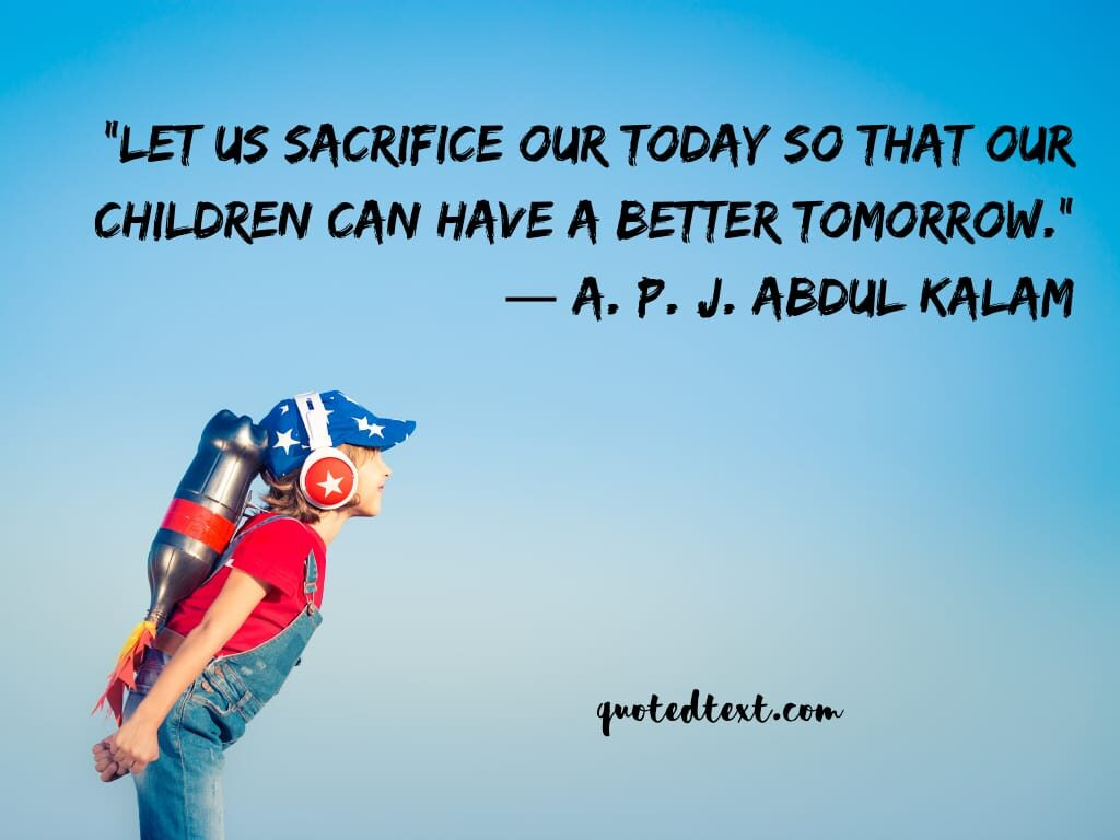sacrifice quotes on children