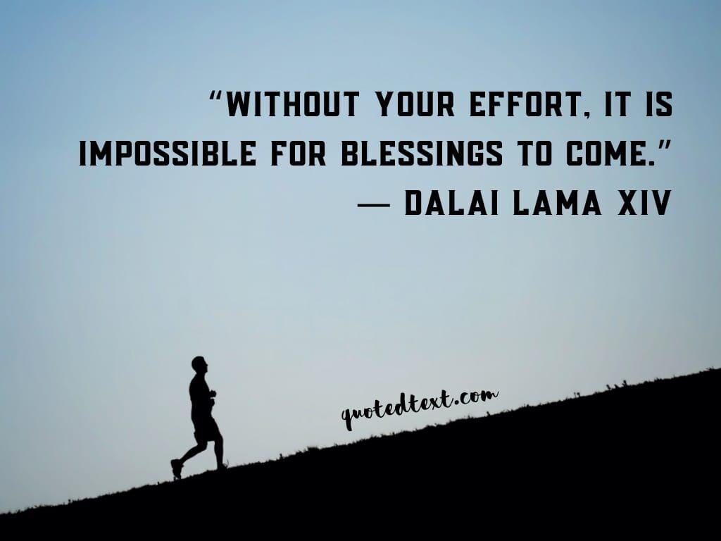 dalai lama quotes on efforts