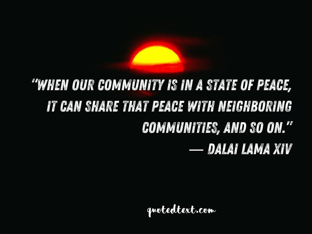be peaceful dalai lama quotes