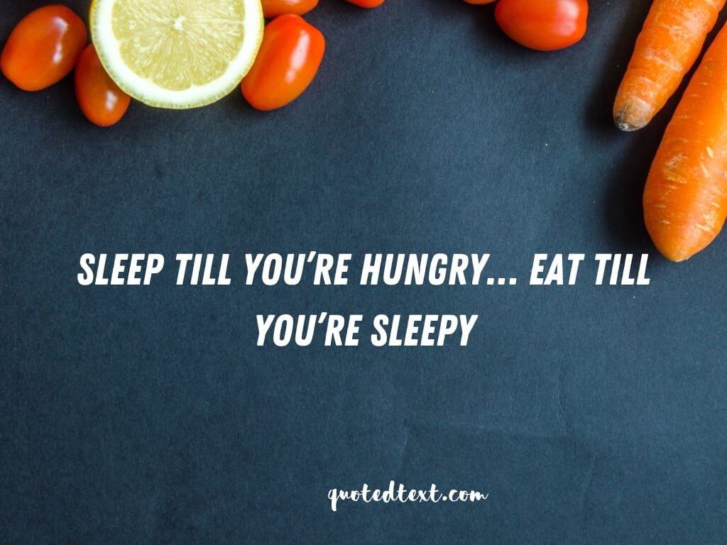 funny status on sleepy and hungry