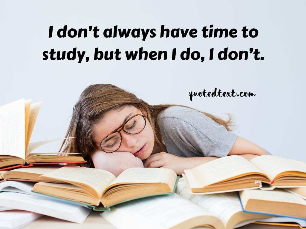 studying funny quotes