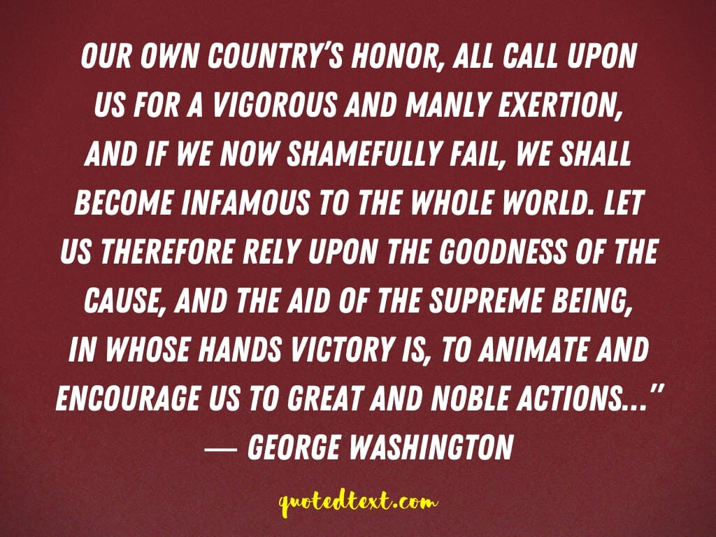 quotes on country honor