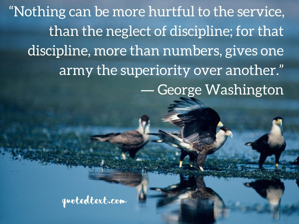 george washington discipline quotes