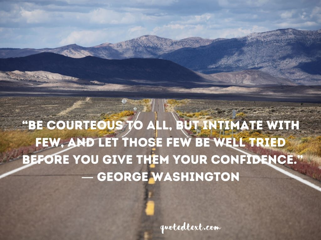 friendship quotes by george washington