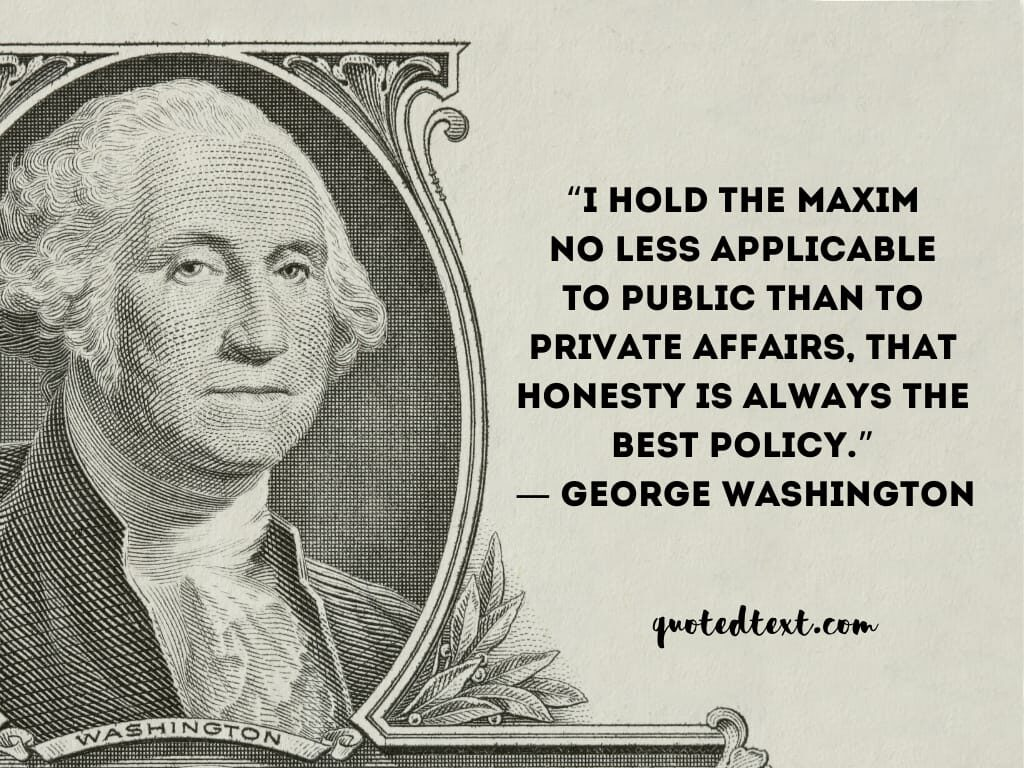 george washington quotes on honesty