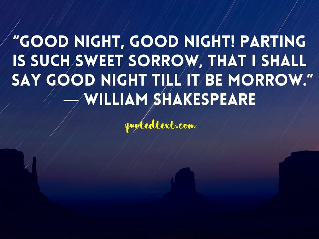 william shakespeare good night quotes
