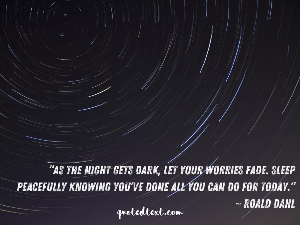 good night quotes on worries
