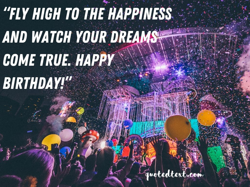 birthday wishes on dreams
