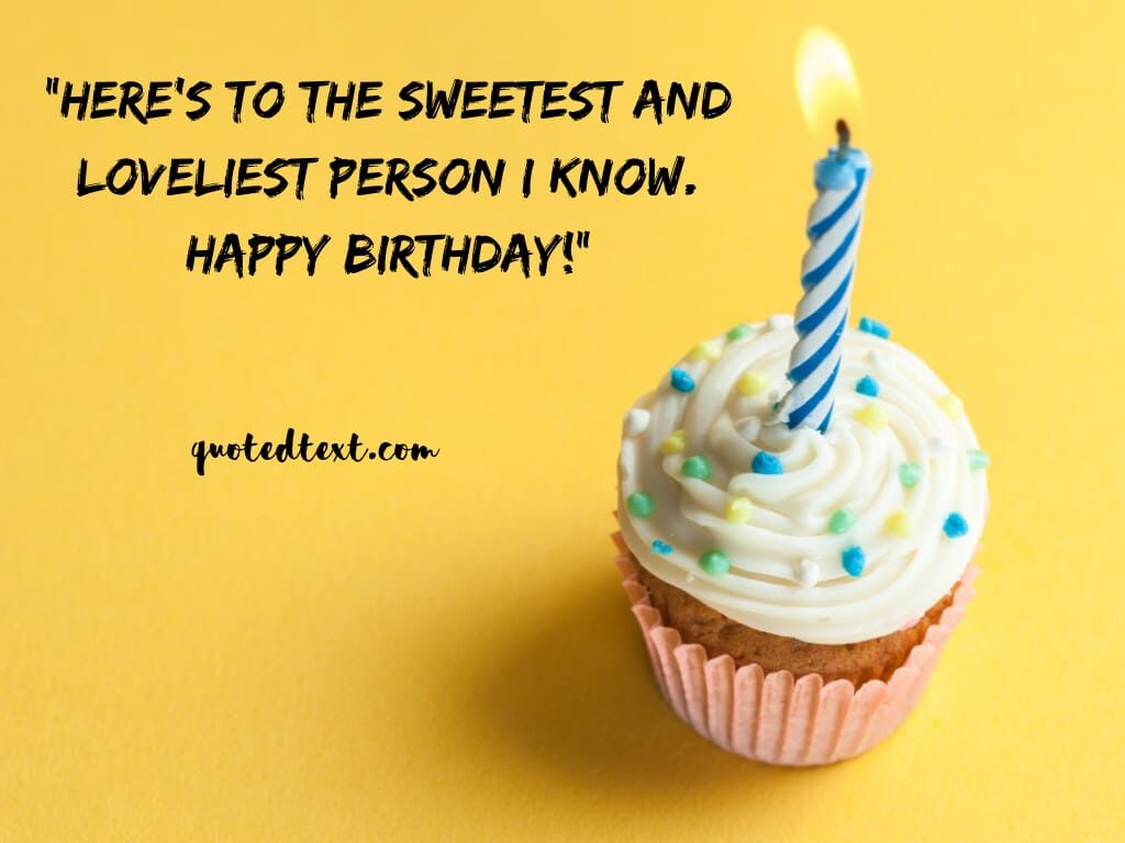 birthday wishes for sweetest person