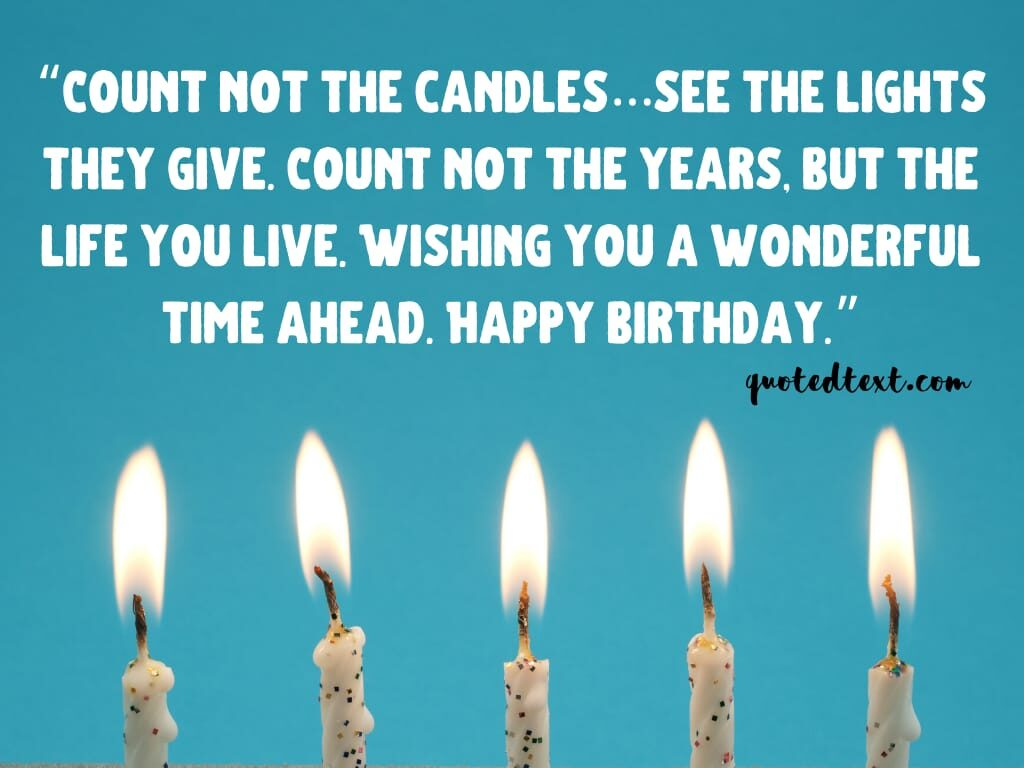 birthday wishes on candles