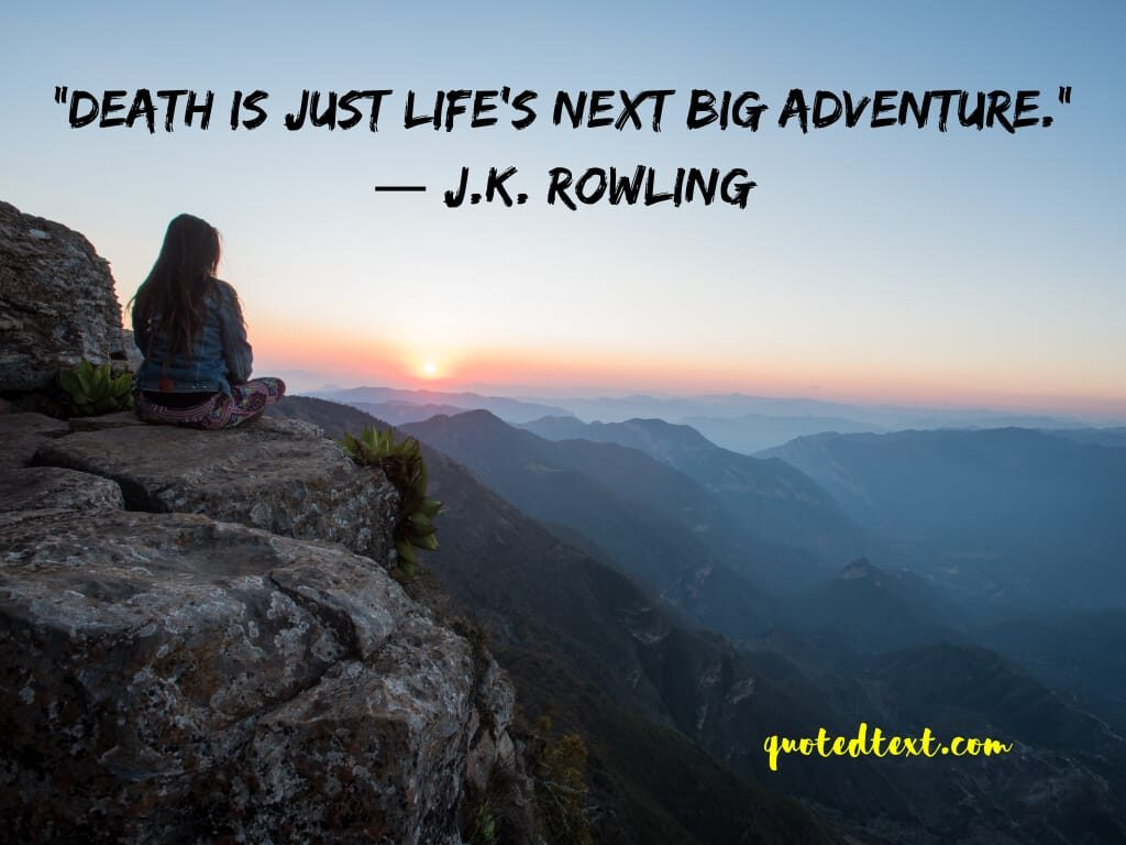 J.K Rowling quotes on death