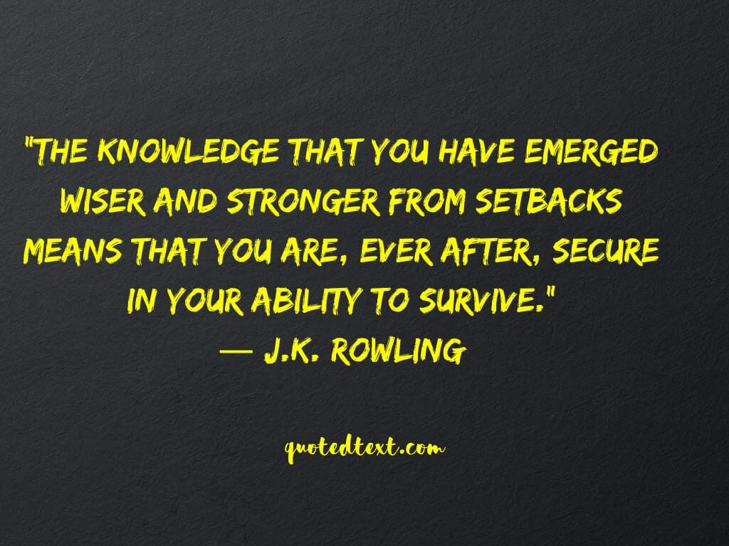J.K Rowling quotes on knowledge