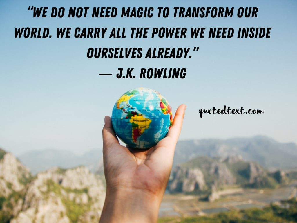 J.K Rowling quotes on inspiration
