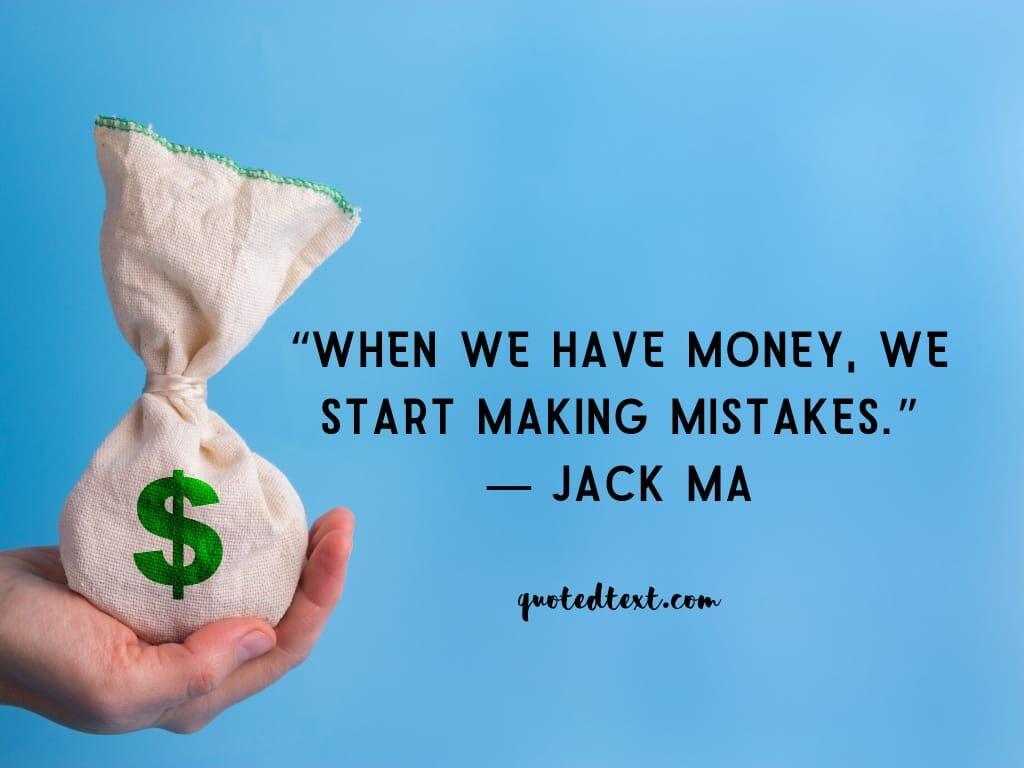 jack ma quotes on money