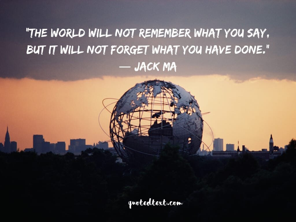 jack ma quotes on remembering