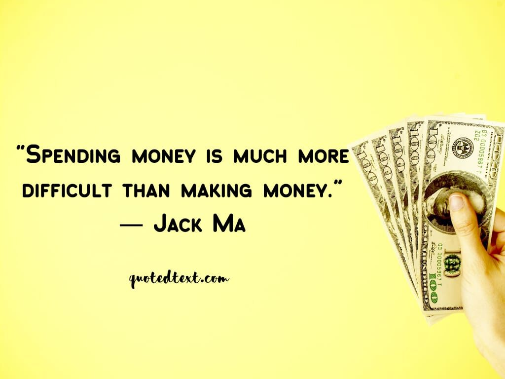jack ma quotes on money