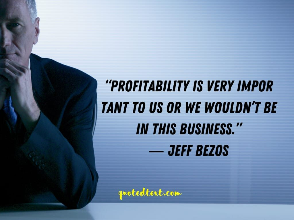 jeff bezos quotes on profit