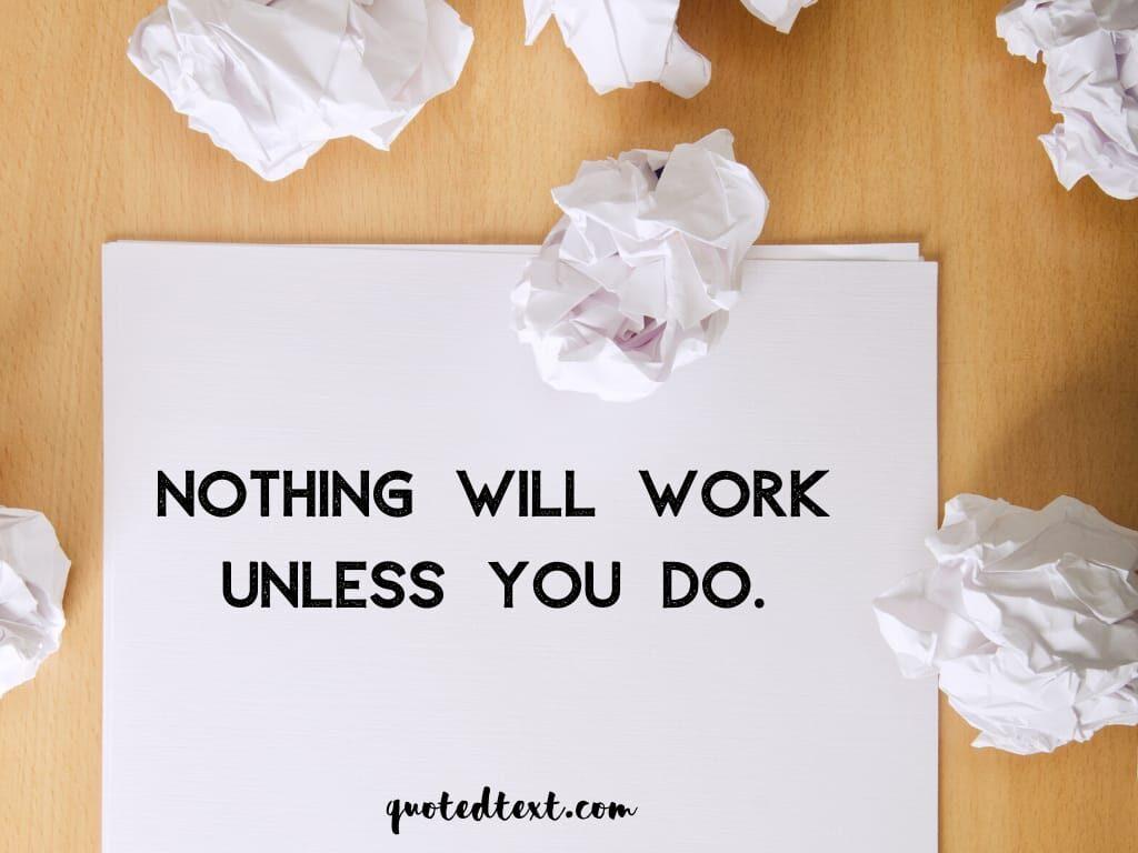 do work status