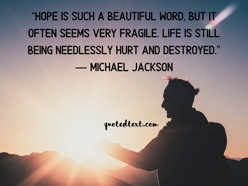 michael jackson quotes on hope