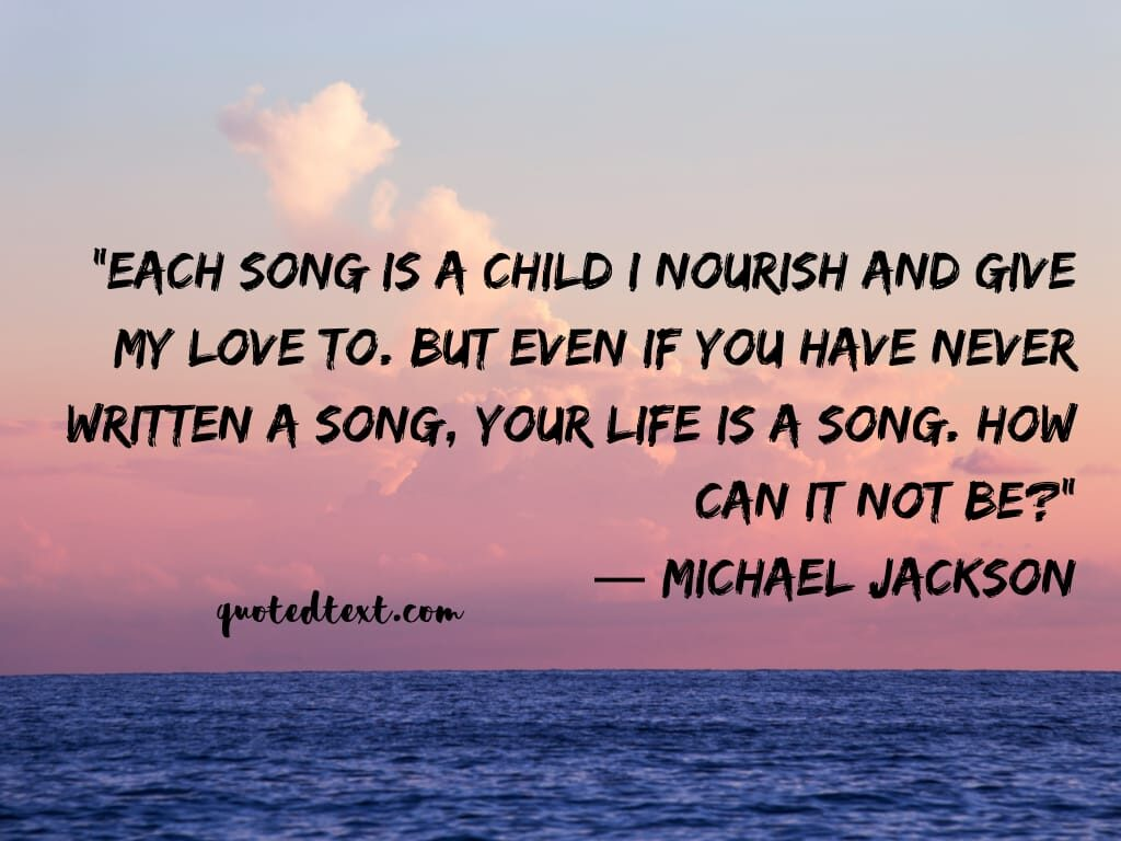 michael jackson quotes on song