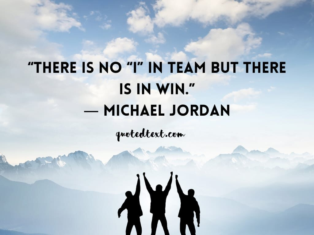 michael jordan quotes on team