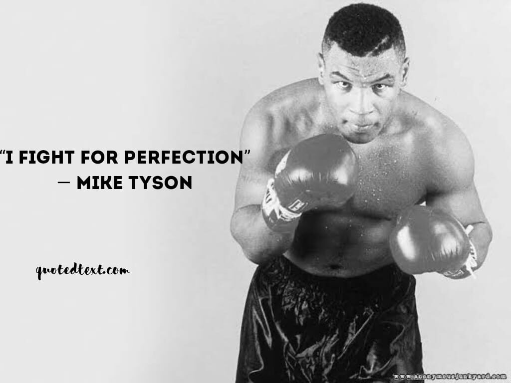 perfection quotes by mike tyson