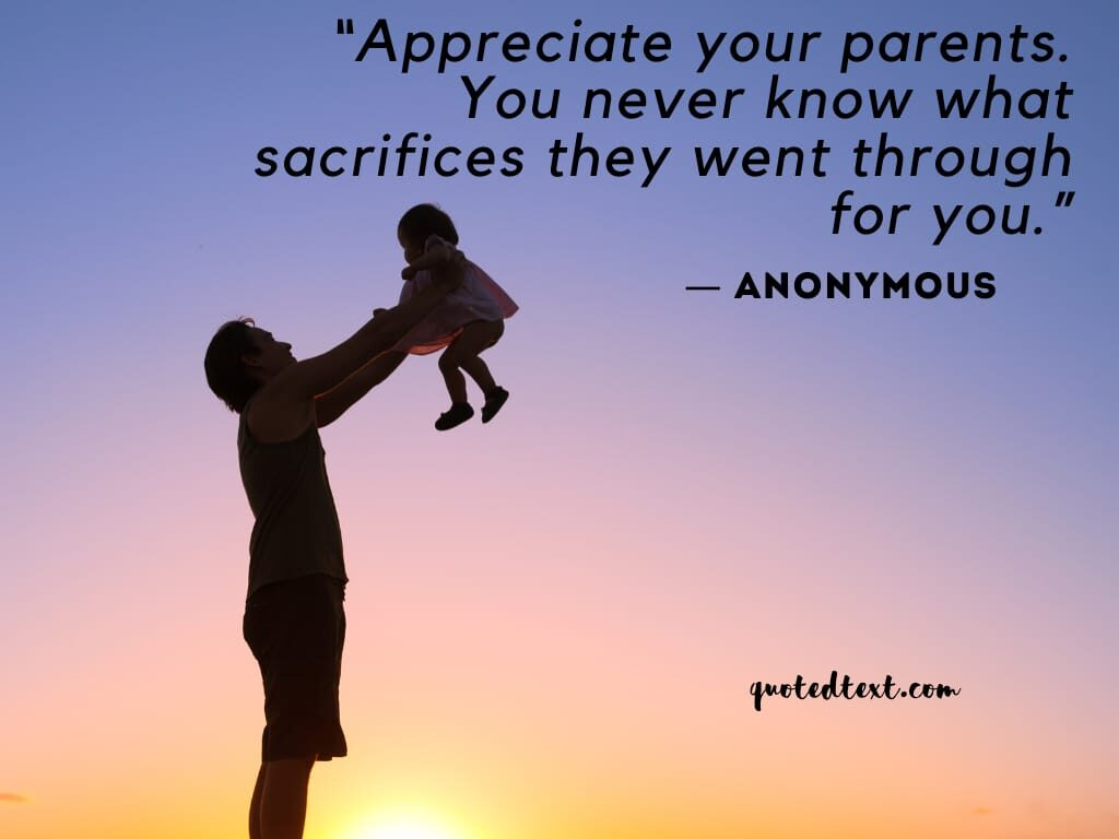 appreciate parents quotes